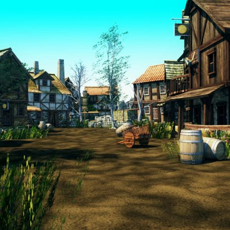 Footage Medieval Village – PixelBoom (0-00-28-09)