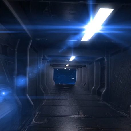 Corridor Alien Spacecraft Space Stars HD – PixelBoom