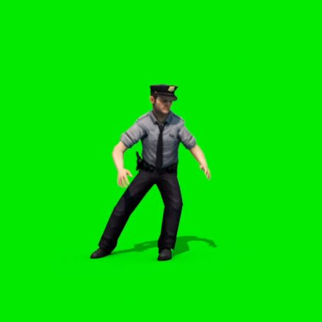 FOOTAGE – Policeman Run to stop turn left Various Angles – PixelBoom
