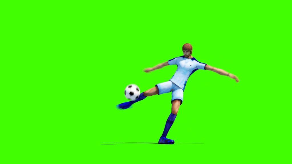 Soccer Player Kick – 3D Model Animated