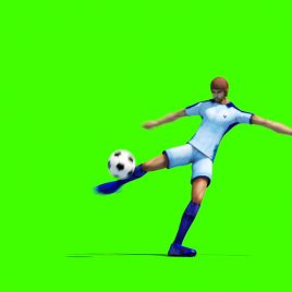 Soccer Player Kick – 3D Model Animated