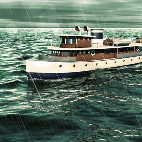 Boat Ship in the Ocean – PixelBoom