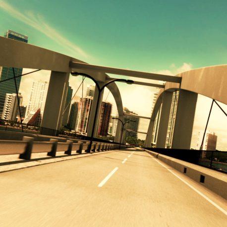 Bridge Road Skyline – PixelBoom