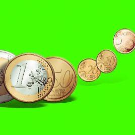 Euro Coins Bounce