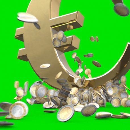 Explosion Euro Coins Big Money – PixelBoom