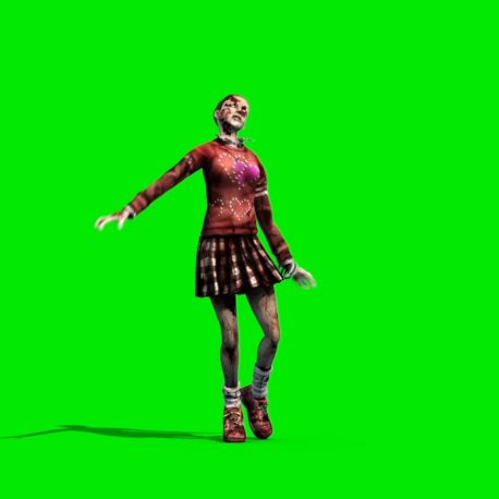 Zombie Girl Walking – PixelBoom