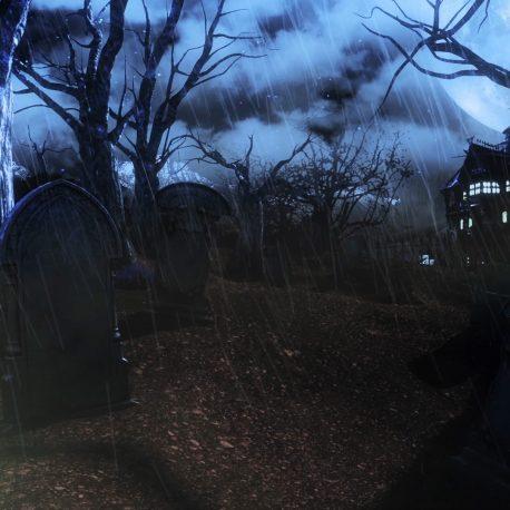 Halloween Cemetery Living Trees – PixelBoom