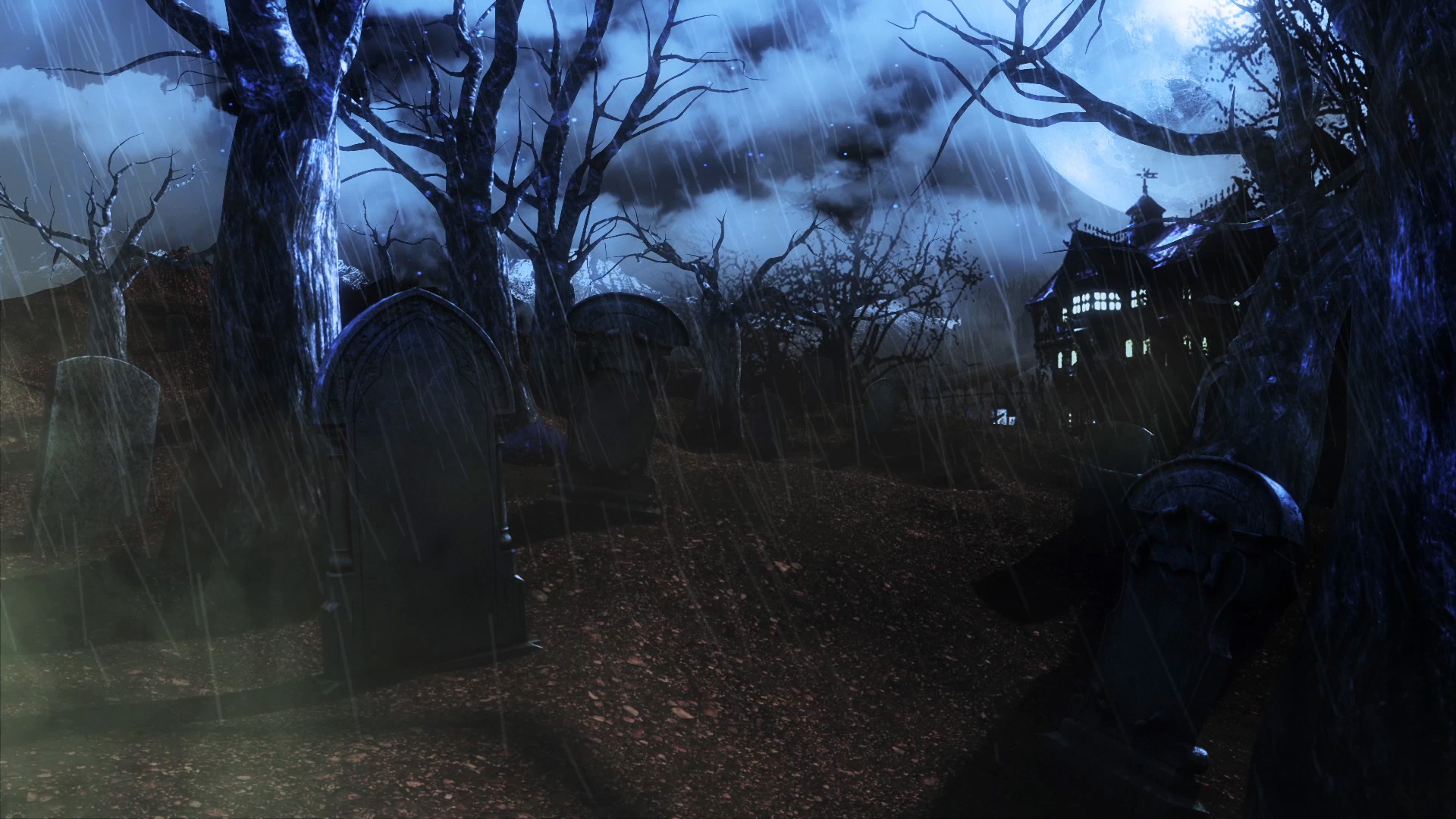 cemetery living trees - pixelboom
