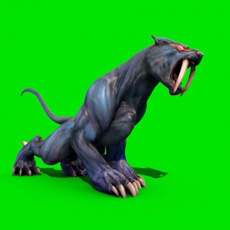 Monster Cougar Jump Attack – PixelBoom