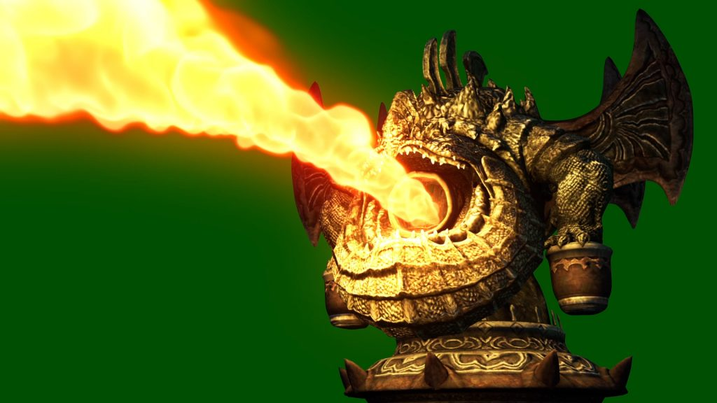 Statue Flamethrower