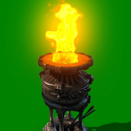 Brazier Burning Fire – PixelBoom