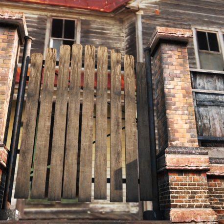 Old Fence Wall Wood Brick – PixelBoom