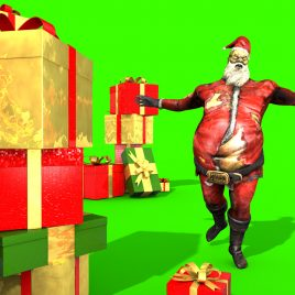 Santa Claus Crazy – 3D Model Animated