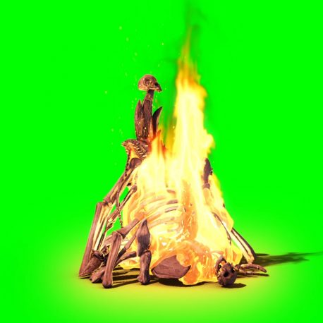 Burning Skull Stack Fire – PixelBoom