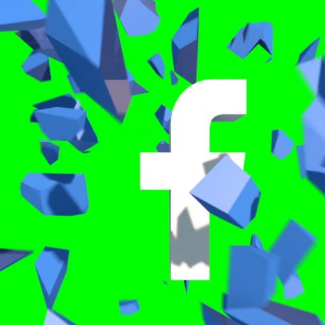 Logo Facebook Explosion Destruction – PixelBoom