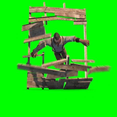 Man Runs Jumps and Destroys Door – PixelBoom