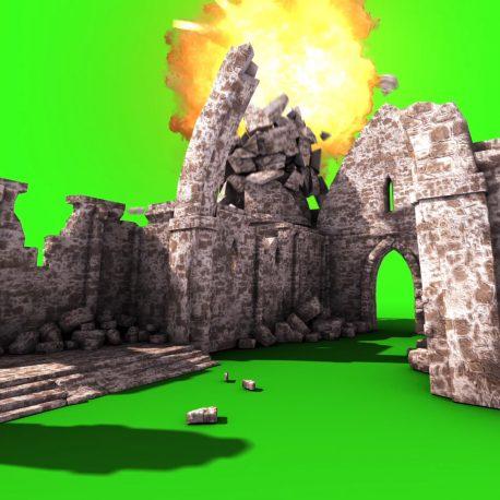 Old Church Bomb Explosion Destruction – PixelBoom