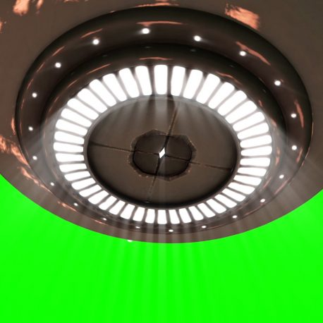Starship UFO Fly Over Energy Lights – PixelBoom