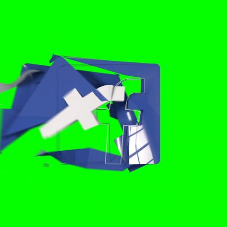 Logo Facebook Destroyed by Wind – PixelBoom