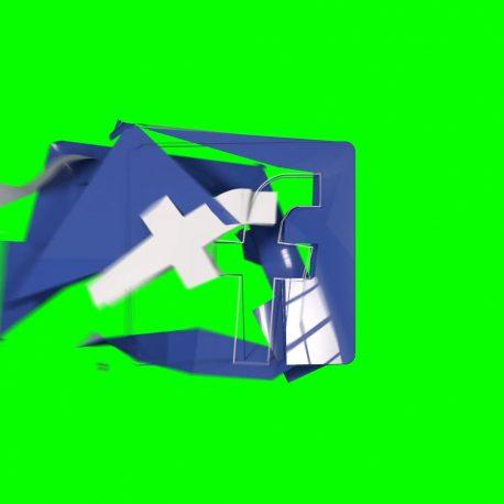 Logo Facebook Destroyed by Wind – PixelBoom