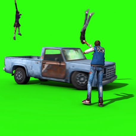 Zombies Run Over by Pickup – PixelBoom