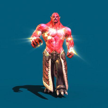 Huge Flaming Demon Walk Fights – PixelBoom