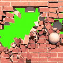 Brick Wall Explosion