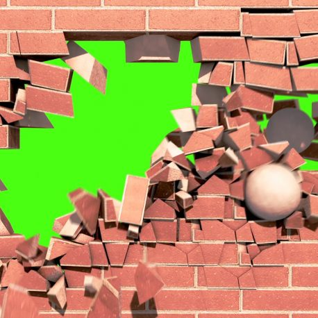 Intro Brick Wall Explosion – PixelBoom