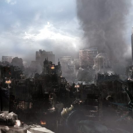 Scene City Destroyed New York Paris Taj Mahal – PixelBoom