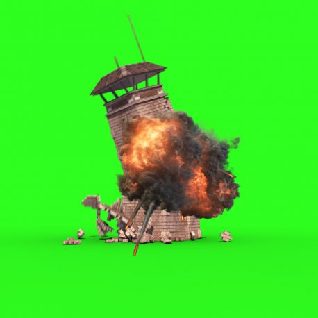 Watchtower Prison Tower Crash Explosion – PixelBoom
