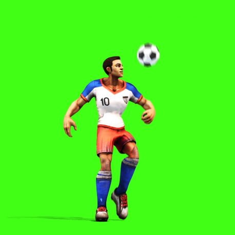 Soccer Player Dribbles and Kicks the Ball – PixelBoom