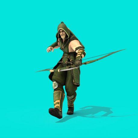 Superhero Green Arrow Fights – PixelBoom