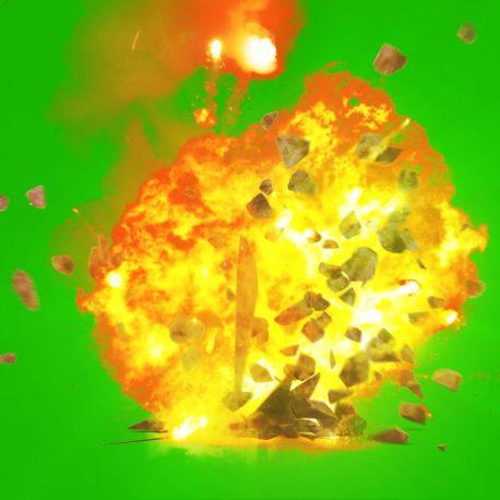 Bomb Explosion Bouncing Debris – PixelBoom