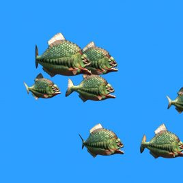 Piranha Attack – 3D Model Animated