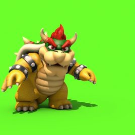 Bowser Attack – 3D Model Animated