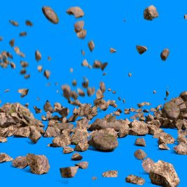 Rock Fall Stones – 3D Model Animated