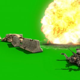 Soldier Explosion – 3D Model Animated