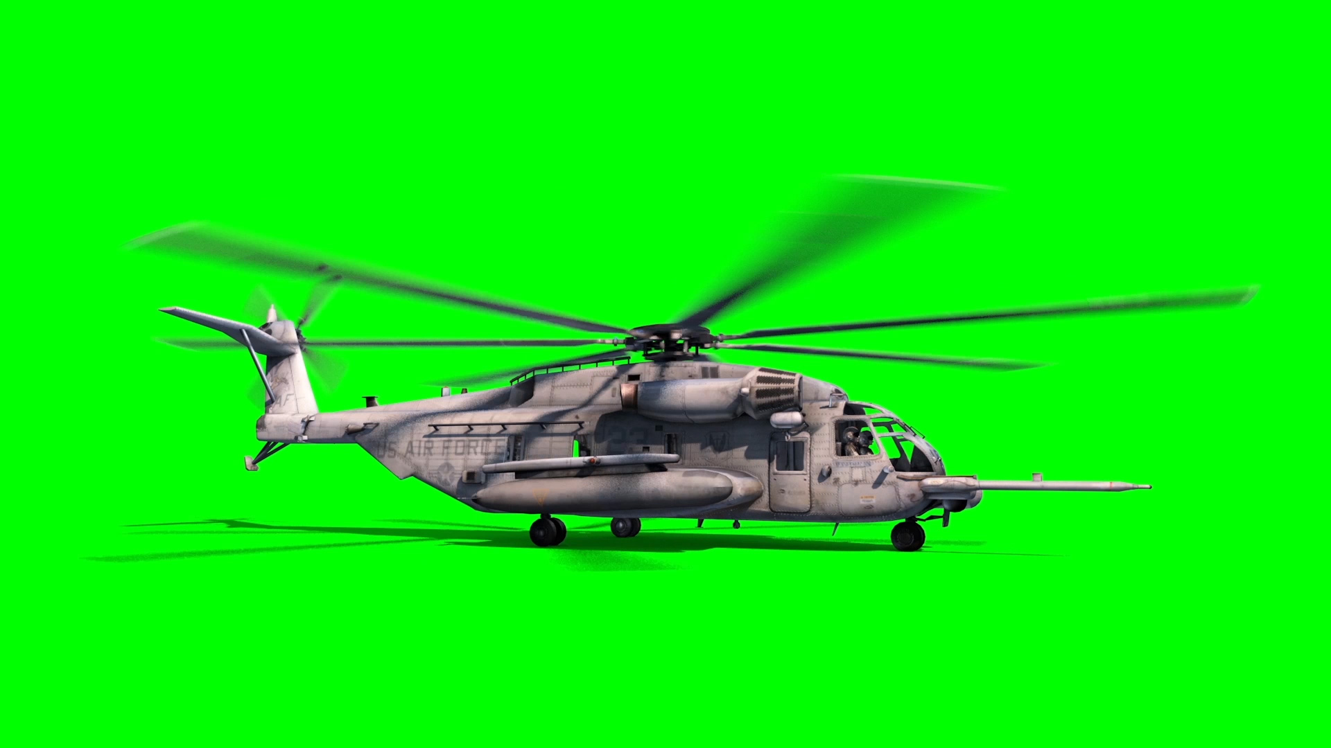 Helicopter Mh 53m 3d Model Animated Pixelboom