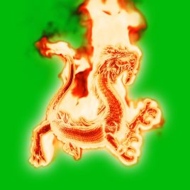 Huge Fiery Dragon – 3D Model Animated