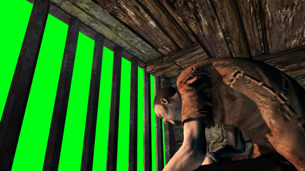 Prisoner Chained – 3D Model Animated