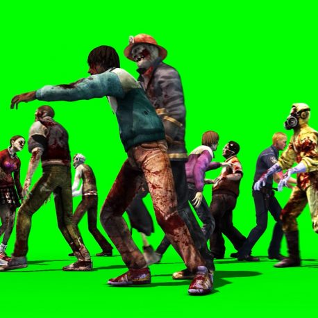 Two Groups of Zombies Cross – PixelBoom