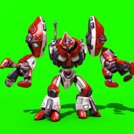 Magnetic Robot – 3D Model Animated