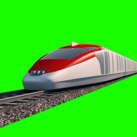 Train Speed Maglev – 3D Model Animated