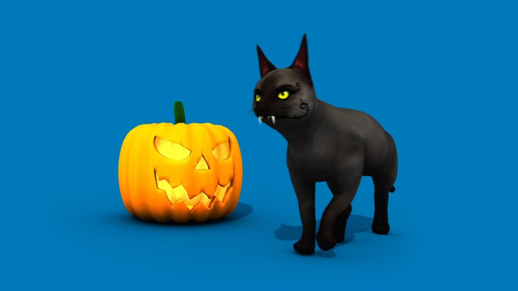 Halloween Cat – 3D Model Animated