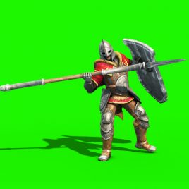 Guard Spear Shield – 3D Model Animated