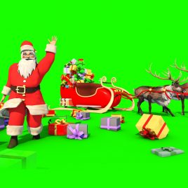 Santa Claus Reindeer – 3D Model Animated