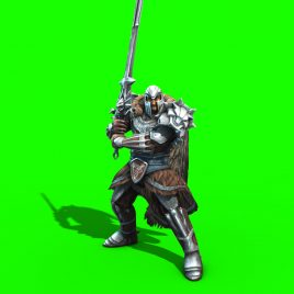Warrior with Sword – 3D Model Animated