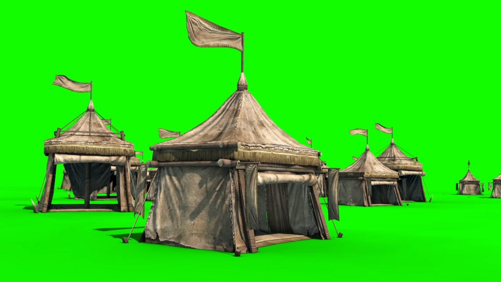 Encampment Tent – 3D Model Animated