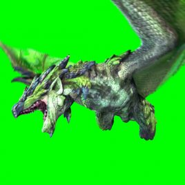 Green Dragon – 3D Model Animated