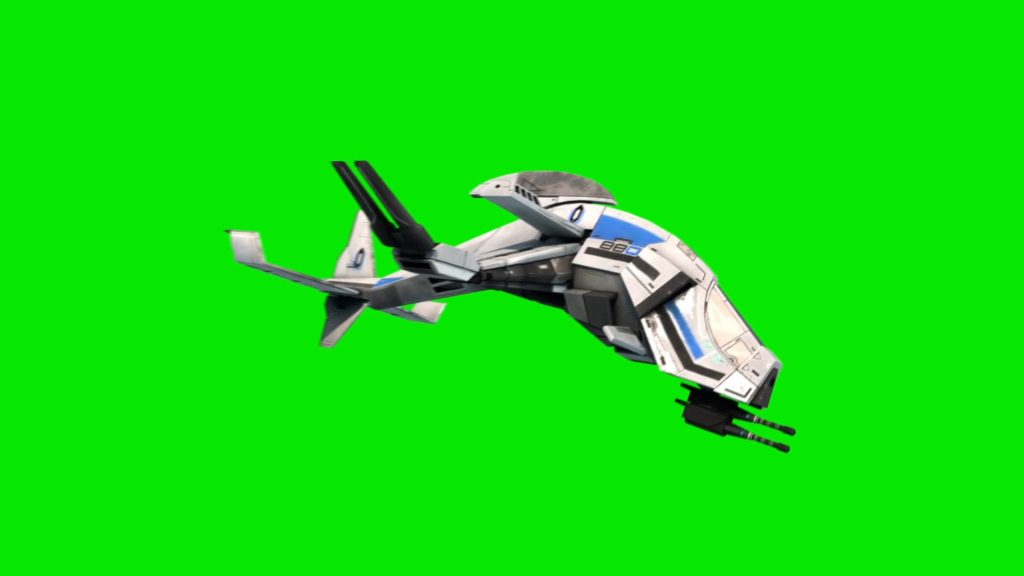 Gunship Drone – 3D Model Animated